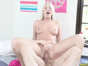 Blonde Teen Hailey Impales Her Pussy On His Dick
