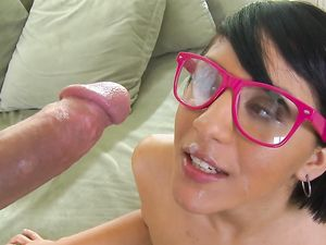 Nerd Needs A Big Dick And He Makes Her Feel Good