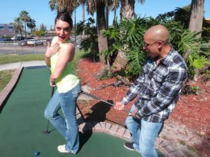 Mini Golfing With A Sexy Teen Cutie He Wants To Bang