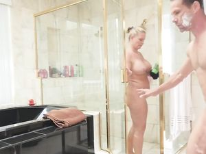 Mom Showers As Stepdad Fucks The Beautiful Girl